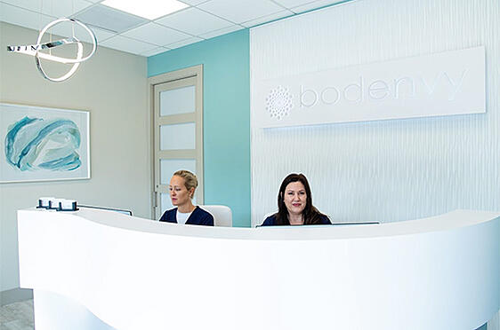 bodenvy CoolSculpting Orlando clinic reception desk