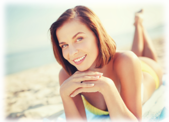 Girl on Beach after Orlando CoolSculpting